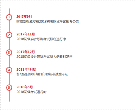 2018年初级会计职称报名时间